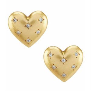 KATE SPADE Precious Gold Heart Stud Earrings